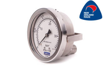 100mm all SS Rear Entry Pressure Gauge