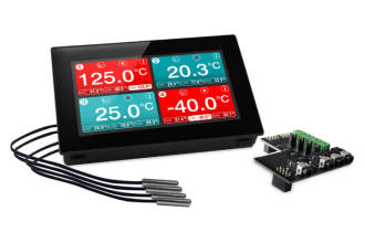 "4 Channel Temp Logger c/w 4.3"" Display"